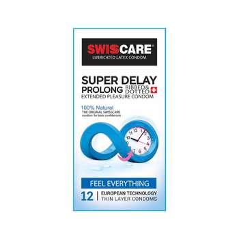کاندوم سوئیس کر مدل SUPER DELAY بسته 12 عددی