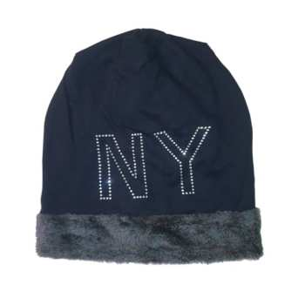 کلاه زنانه مدل NY رنگ طوسی