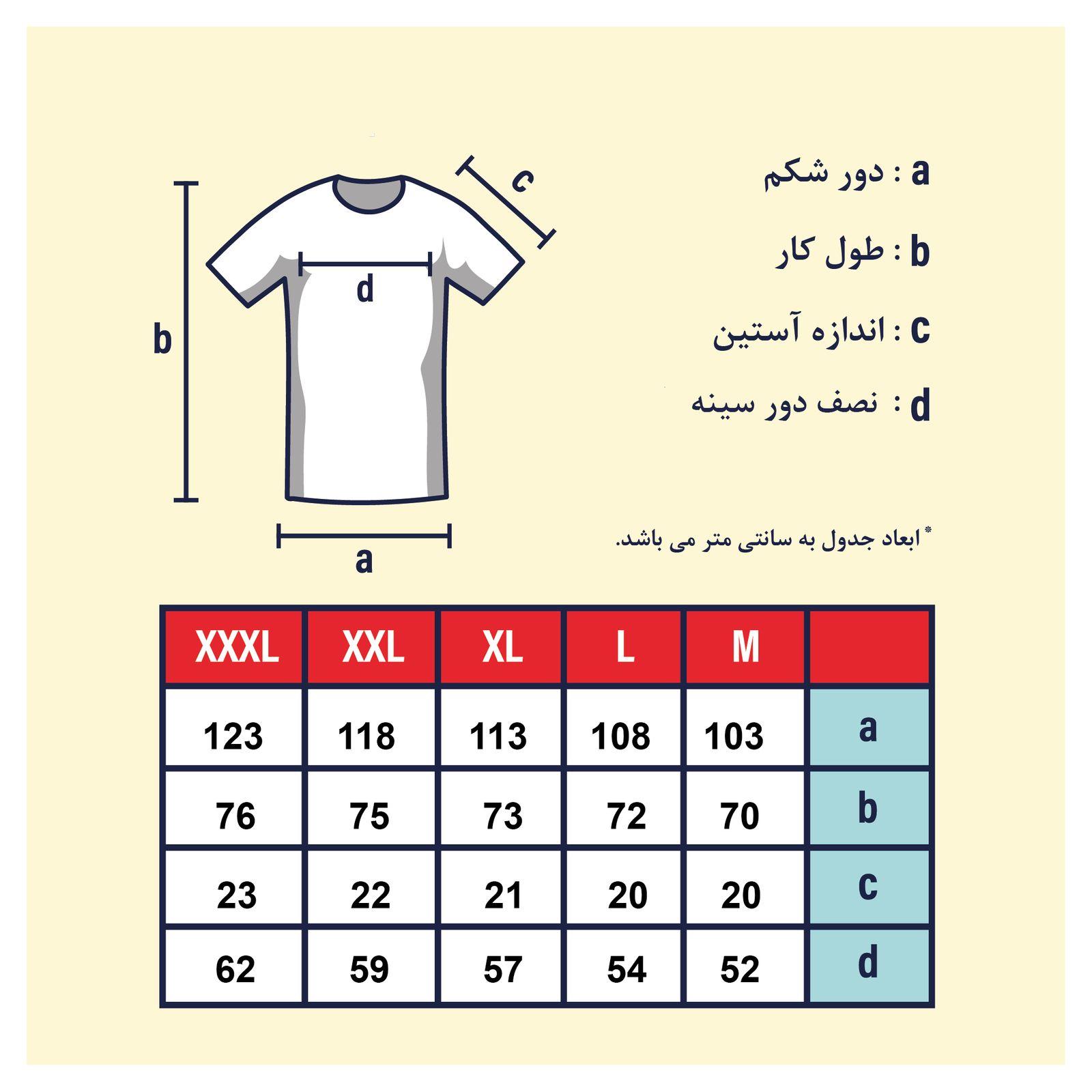 تی شرت مردانه پاتن جامه کد 99M5224 رنگ سرمه ای  -  - 6