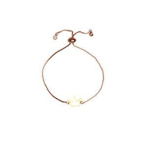 دستبند طلا 18 عیار دخترانه کرابو طرح تاج مدل Krd1066