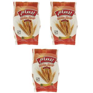 آرد سفید گندم پرهام - 450 گرم بسته 3 عددی