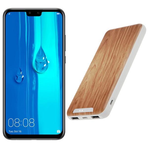 گوشی موبایل هوآوی مدل Y9 2019 JKM-LX1 دو سیم کارت ظرفیت 64 گیگابایت و رم 4 گیگابایت بههمراه شارژر همراه تسکو مدل TP 842N ظرفیت 10000 میلیآمپرساعت