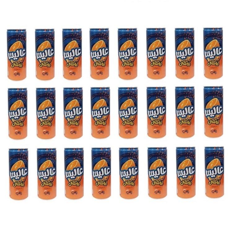 نوشیدنی بدون گاز پرتقال عالیس بسته 24 عددی