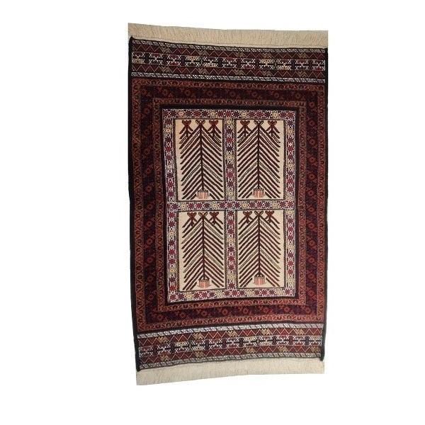 گلیم فرش دستباف یک متری مدل بافت بلوچ سیستان کد 10033