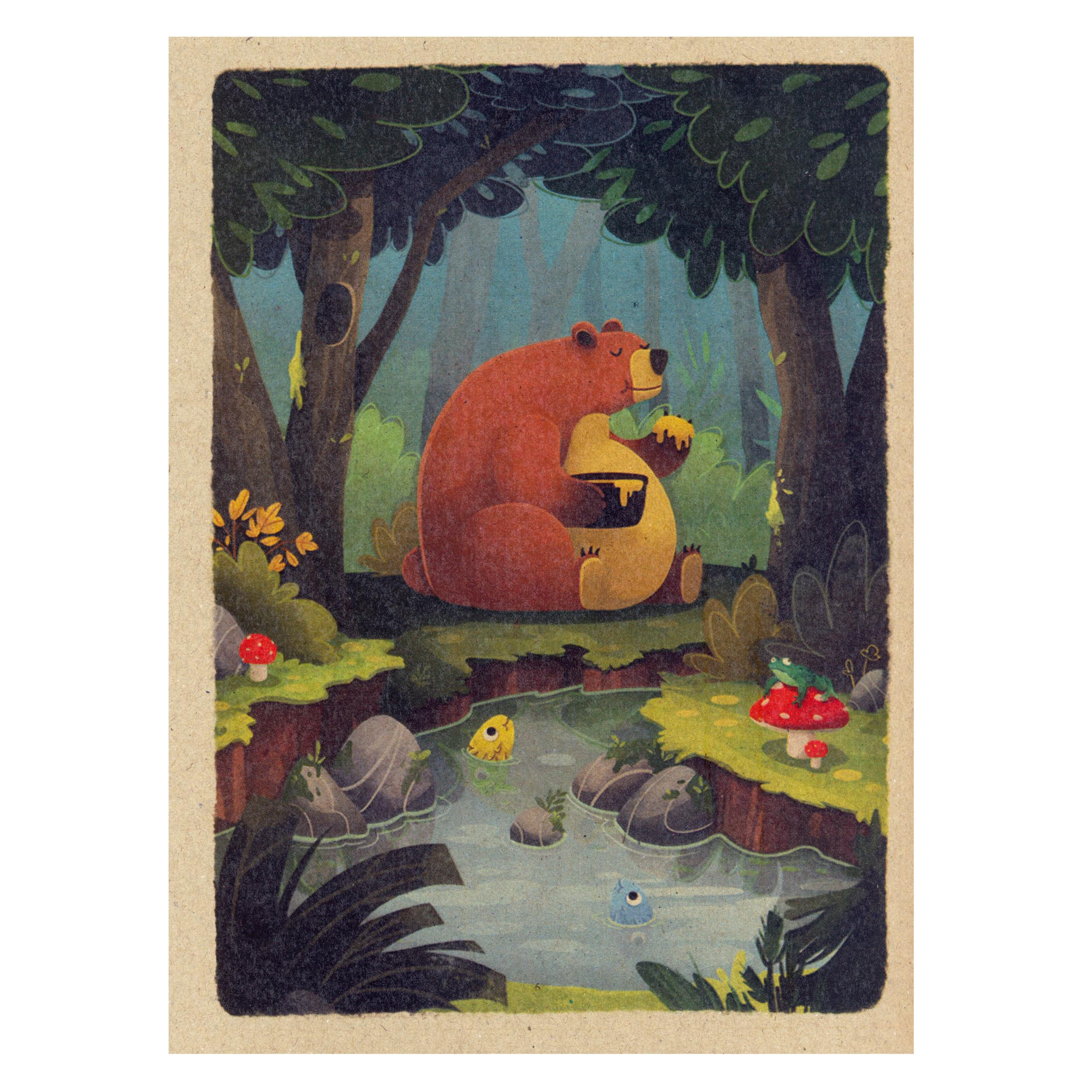 قیمت خرید دفتر نقاشی ژوست طرح خرس و عسل مدل کژوال اورجینال