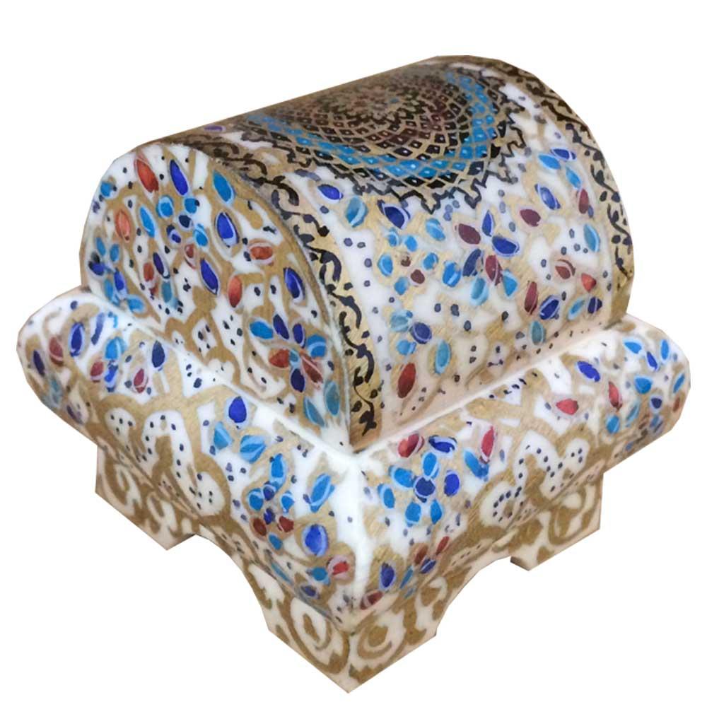 جعبه جواهرات استخوانی طرح تذهيب کد B 233