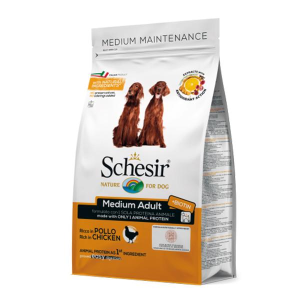 غذای خشک سگ شسیر مدل Medium Adult Chicken وزن ۳ کیلوگرم