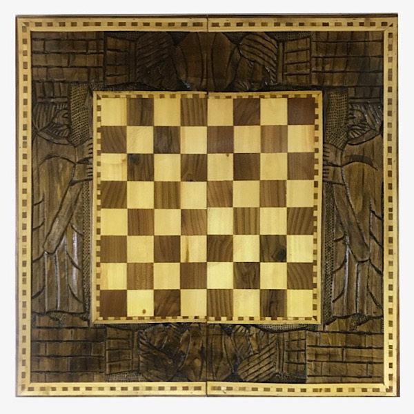 صفحه شطرنج منبت کاری مدل T50