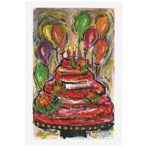 کارت پستال انتشارات سیبان مدل کیک تولد بادکنکی
