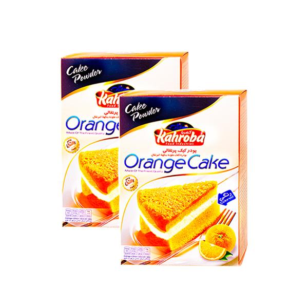 پودر کیک پرتقالی کهربا بسته ۲ عددی
