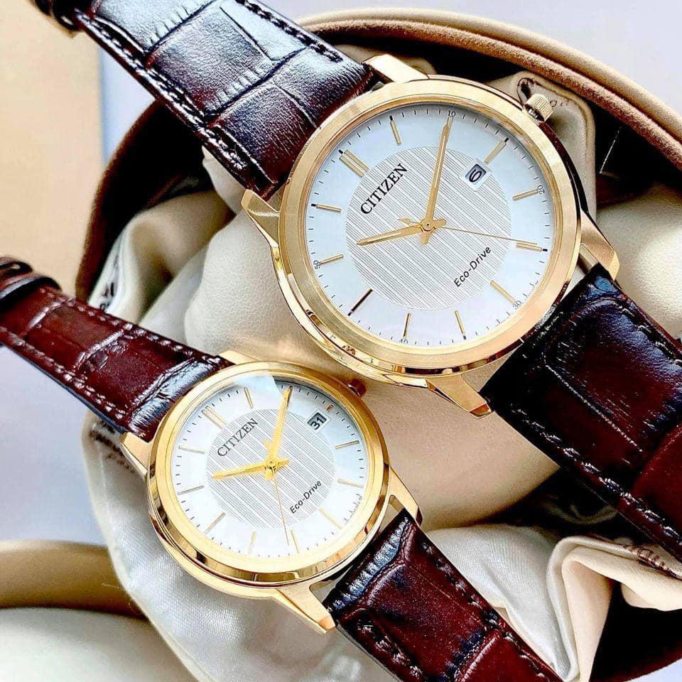 ست ساعت مچی عقربه ای زنانه و مردانه سیتی زن مدل AW1212-10A FE6012-11A