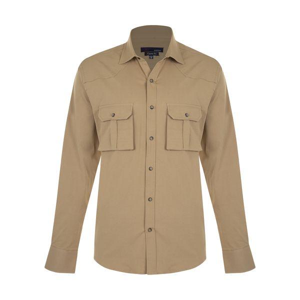 پیراهن آستین بلند مردانه پاتن جامه مدل 102221000152110