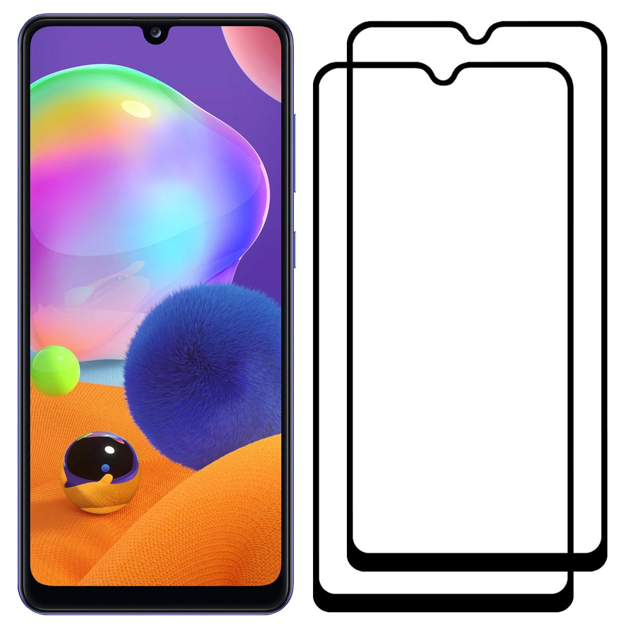 محافظ صفحه نمایش مدل FCG مناسب برای گوشی موبایل سامسونگ Galaxy A31 بسته دو عددی
