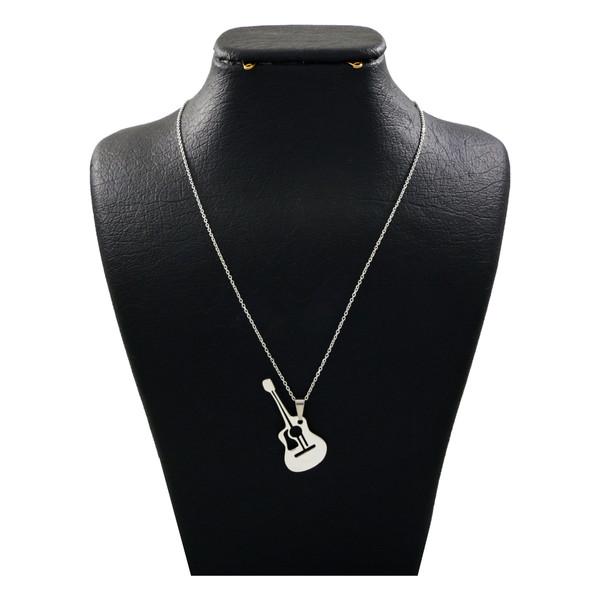 گردنبند نقره زنانه دلی جم طرح گیتار کد D 134