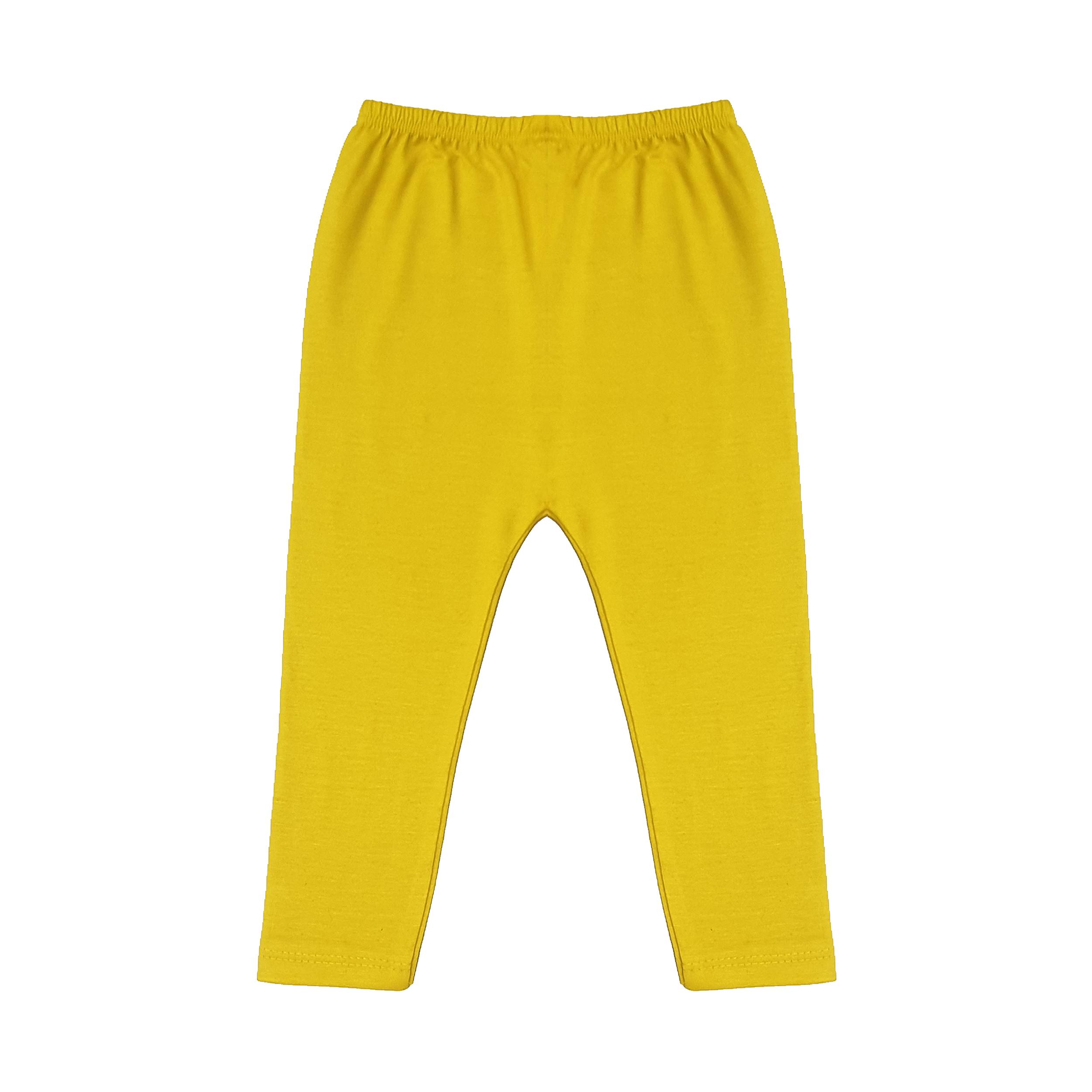 شلوار دخترانه افراتین کد 5532 رنگ زرد