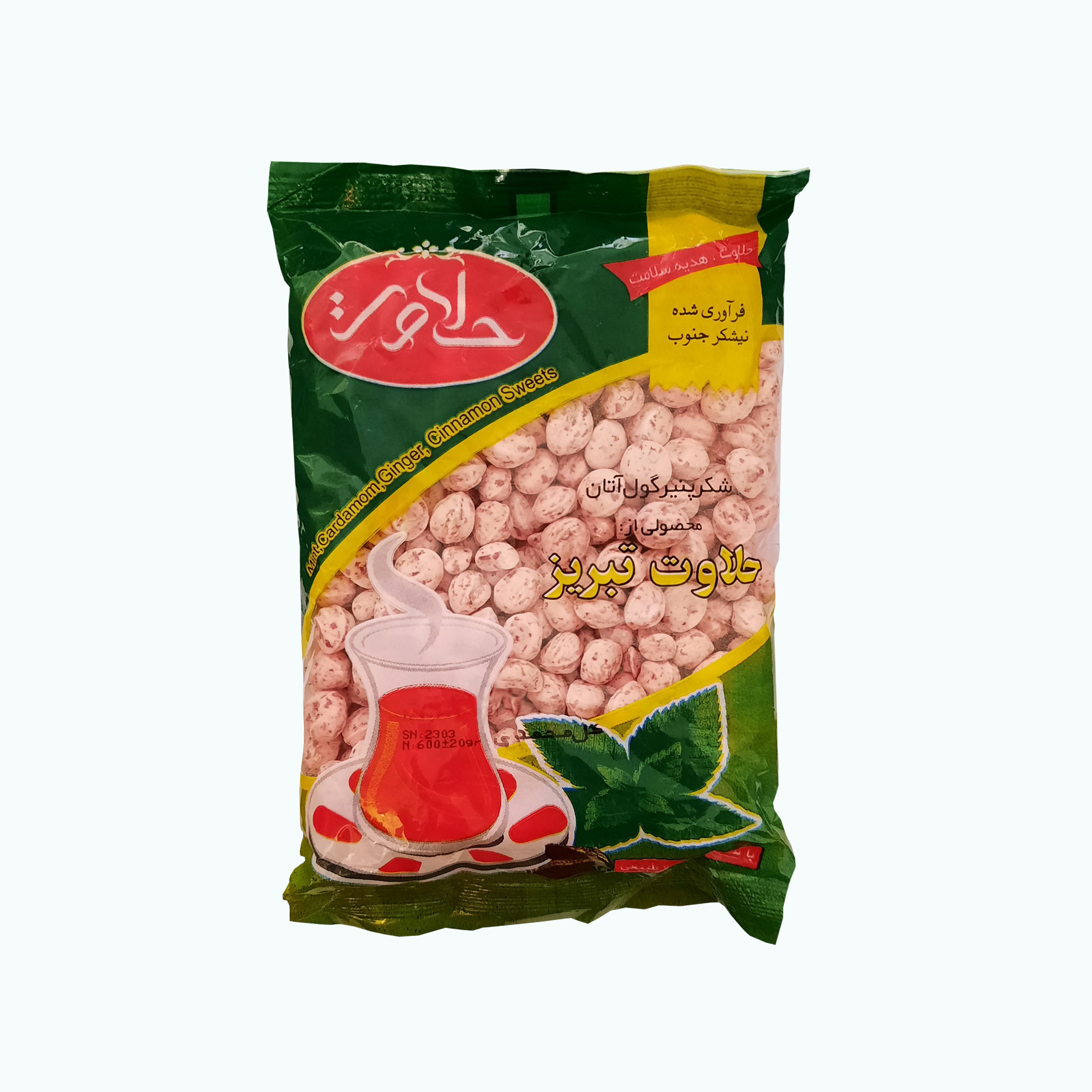 شکر پنیر طبیعی  گل محمدی حلاوت تبریز - 600 گرم