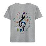 تی شرت دخترانه مدل نت موسیقی M59