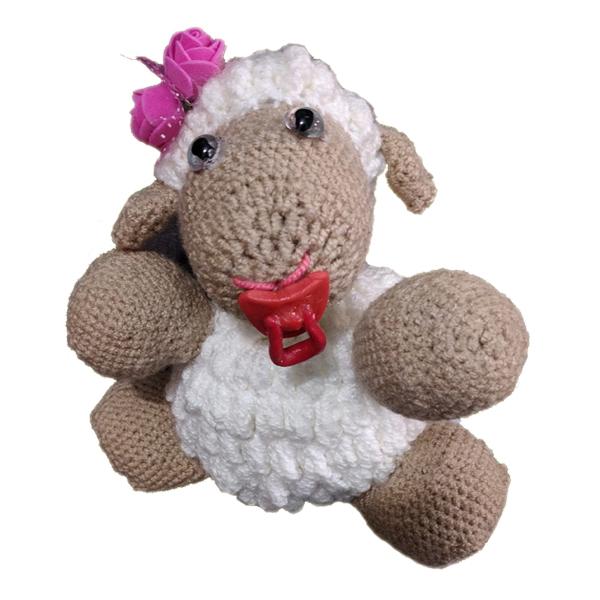 خرید                      عروسک بافتنی طرح گوسفند کد D0002
