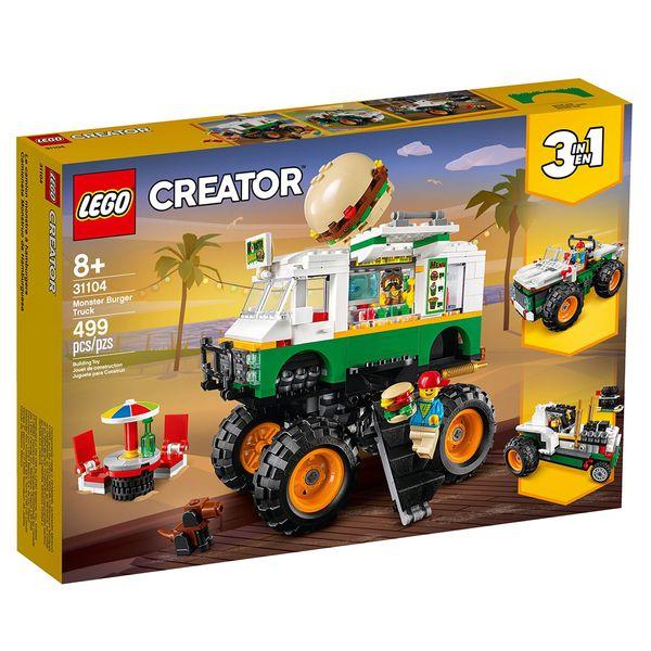 لگو سری Creator مدل 31104 Monster Burger Truck