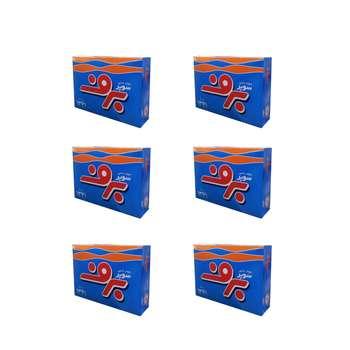 پودر رخت شویی دستی برف مدل Super مقدار 500 گرم بسته 6 عددی