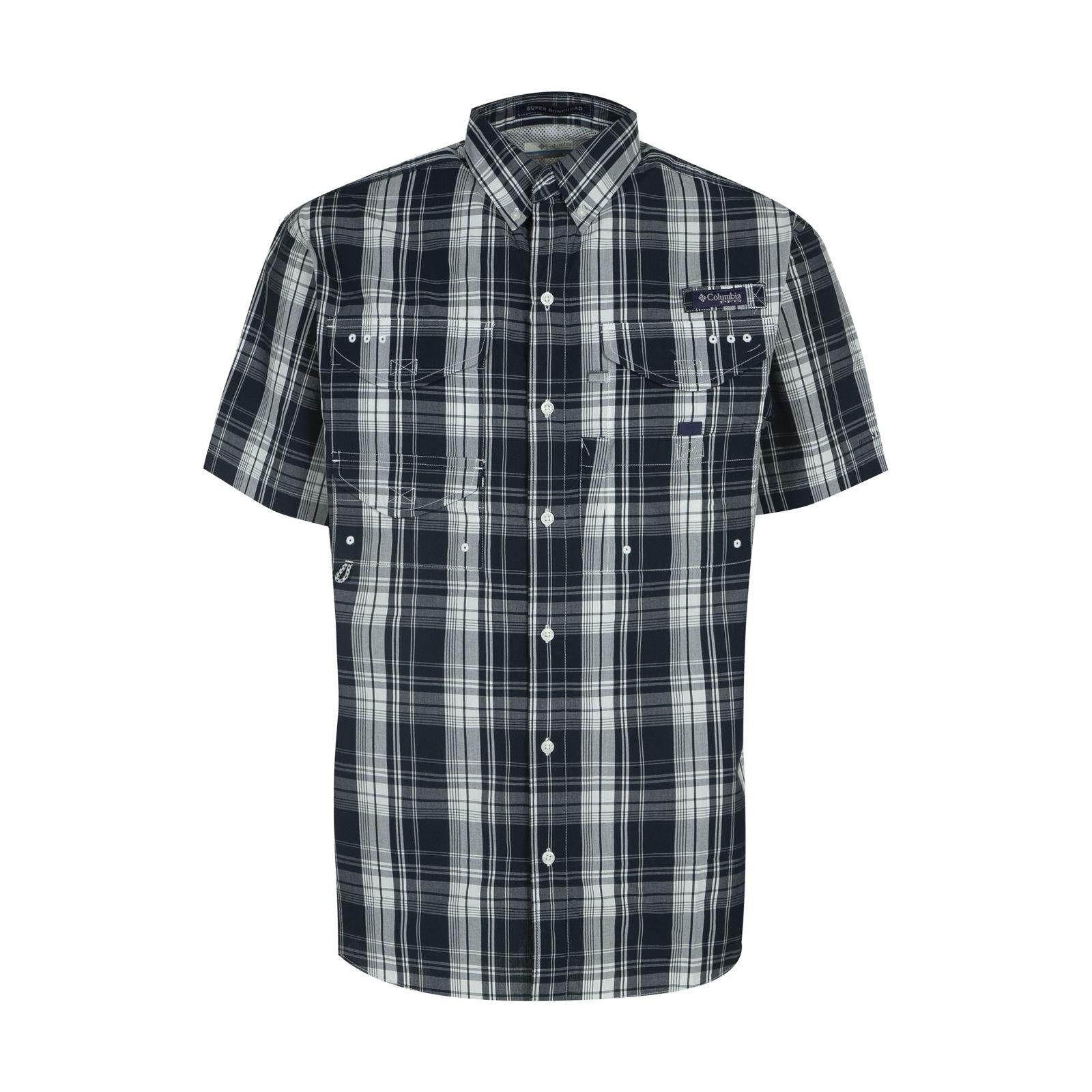 پیراهن آستین کوتاه مردانه کلمبیا مدل FM7272-468