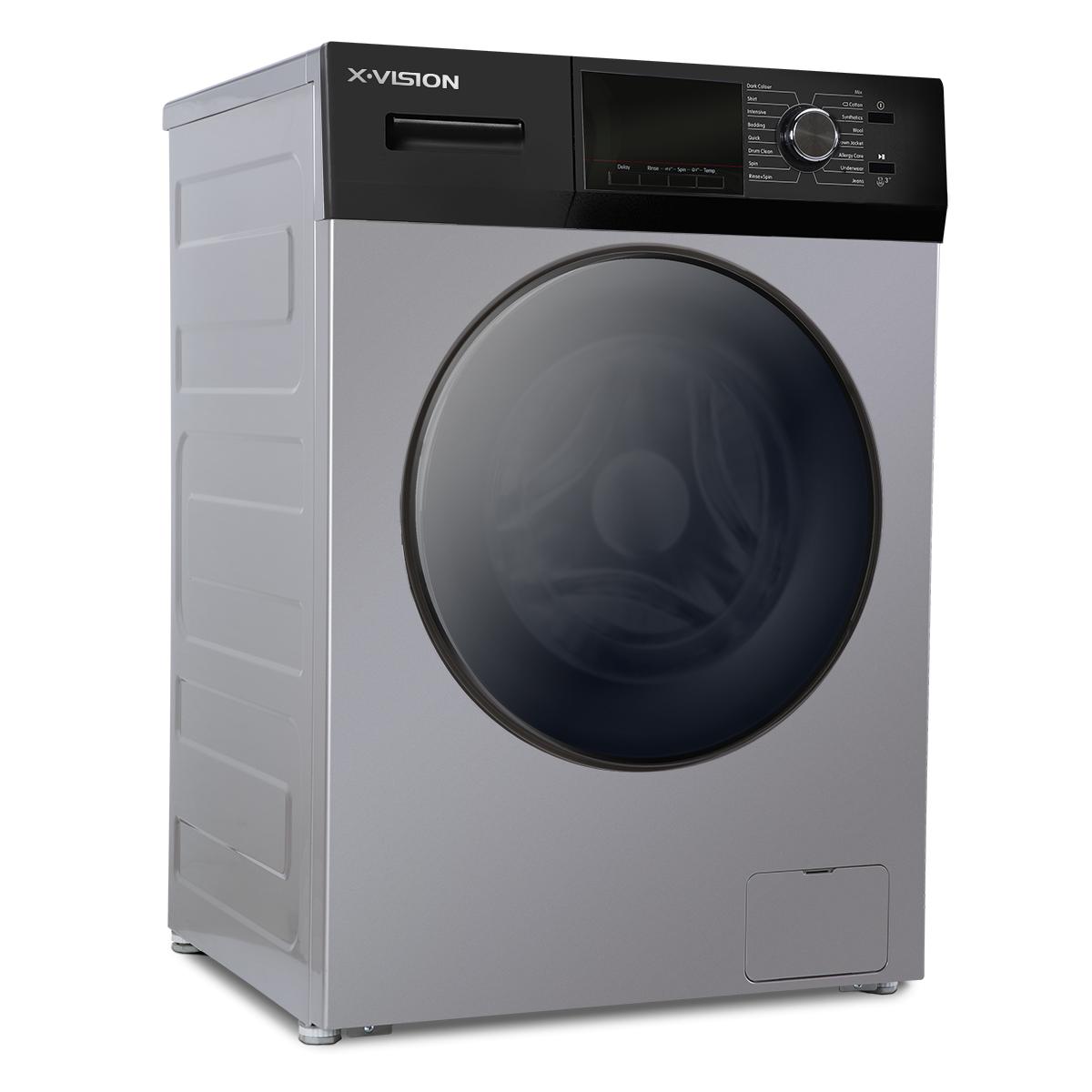 ماشین لباسشویی ایکس ویژن مدل TM84-BWBL/BSBL ظرفیت 8 کیلوگرم