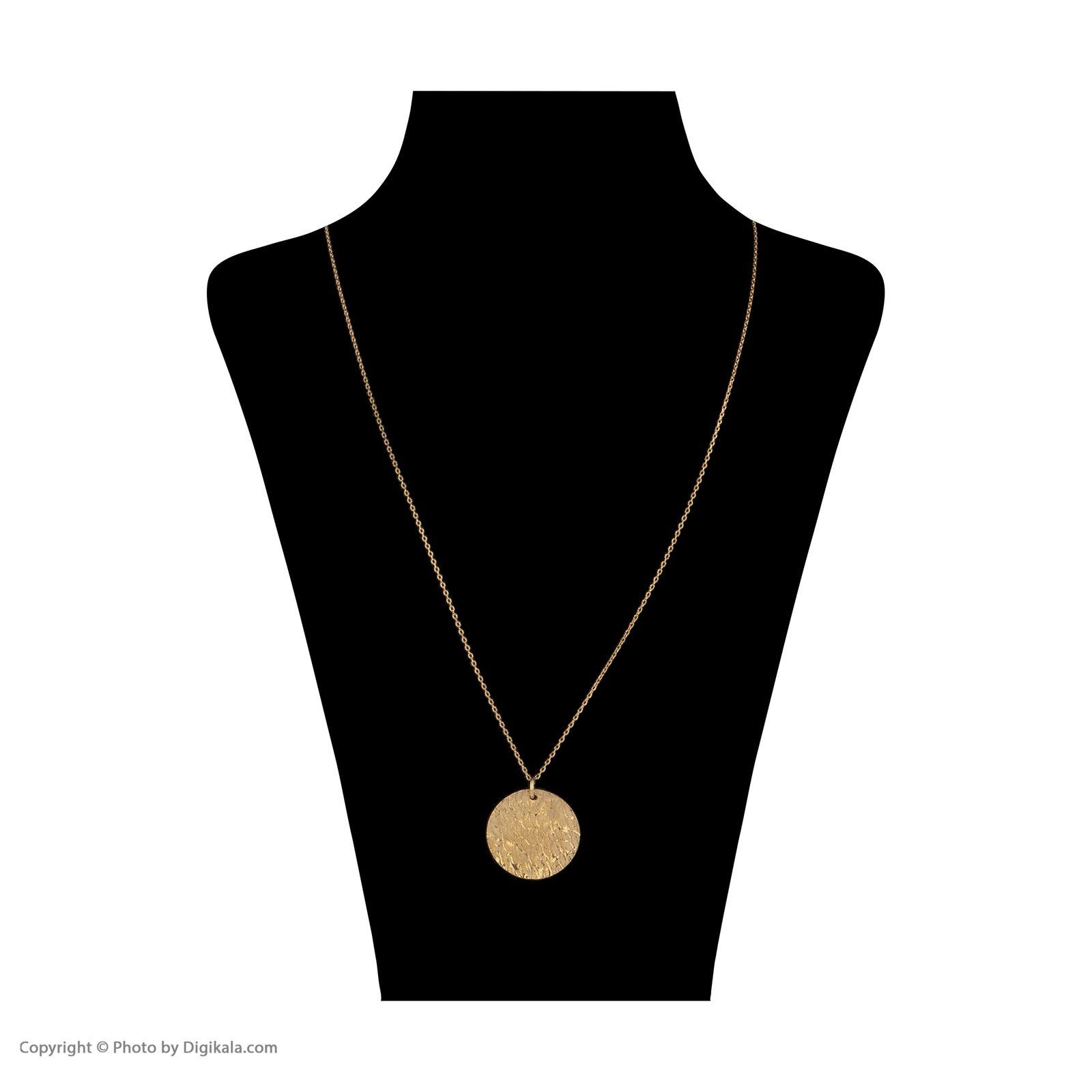 گردنبند طلا 18 عیار زنانه سنجاق مدل X077525 -  - 2