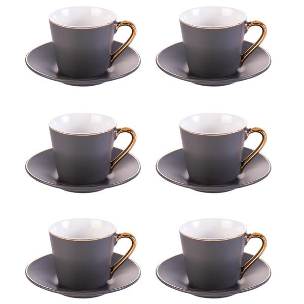 سرویس قهوه خوری 12 پارچه کاراجا مدل GRY