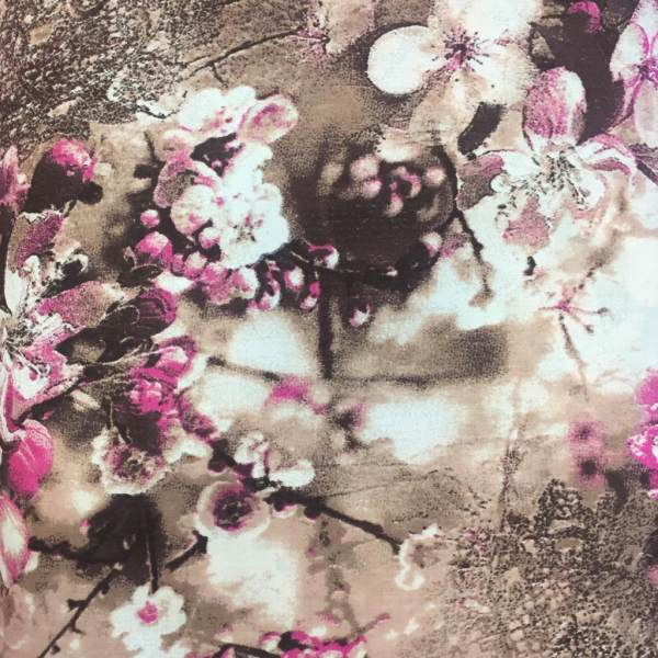 پارچه ملحفه نساجی بروجرد مدل باغ ژاپنی کد D