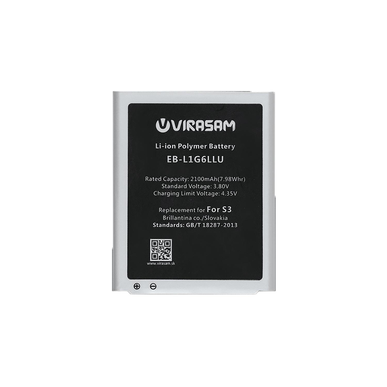 باتری موبایل ویراسام مدل S3 با ظرفیت ۲۱۰۰ میلی آمپر ساعت مناسب برای گوشی موبایل سامسونگ مدل Galaxy S3