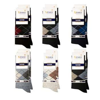 جوراب مردانه ونیز کد AL-V9 مجموعه 12 عددی