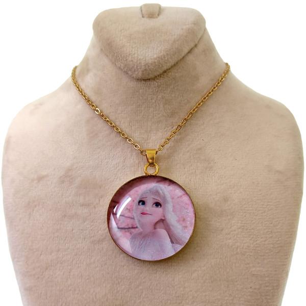 گردنبند دخترانه طرح السا کد 145