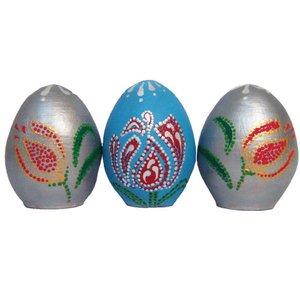 تخم مرغ تزئینی طرح نقطه کوبی سال نو کد HSD01 مجموعه سه عددی