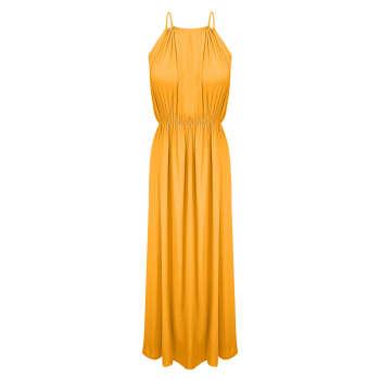 پیراهن زنانه مدل BR022 رنگ زرد خردلی