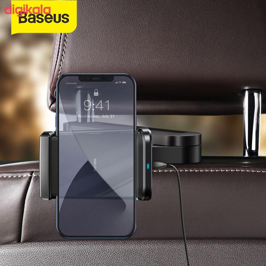 پایه نگهدارنده و شارژر بی سیم گوشی موبایل باسئوس مدل WXHZ-01 main 1 4