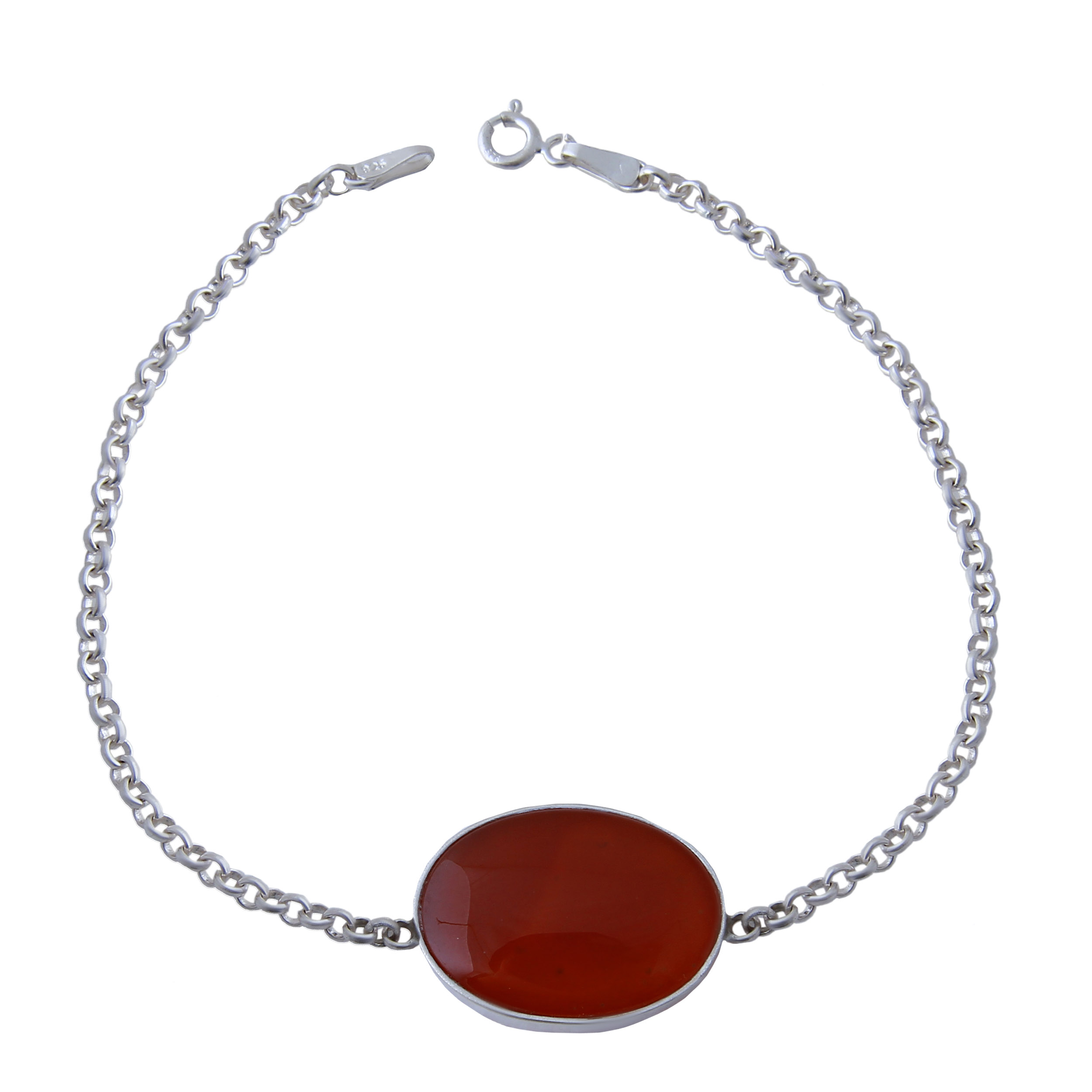 دستبند نقره مردانه بازرگانی میلادی کد DP_184