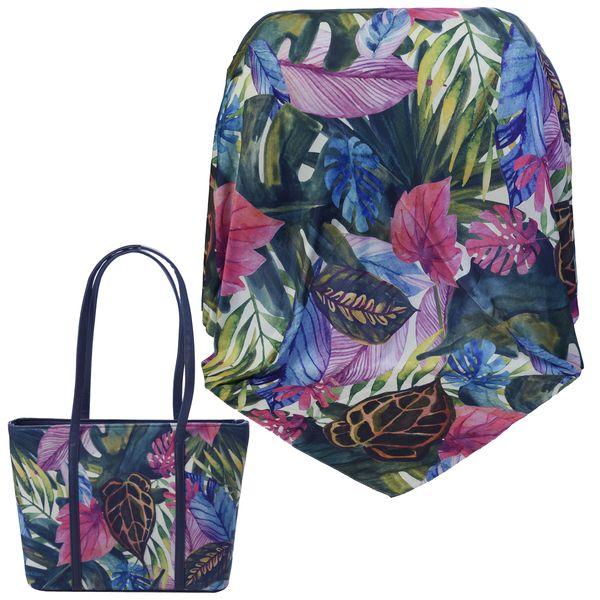 ست کیف و روسری زنانه کد 980227-T1