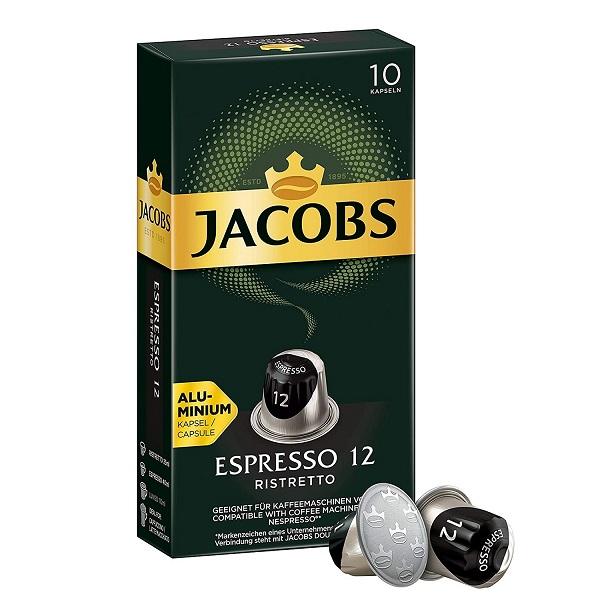 کپسول قهوه اسپرسو ریسترتو جاکوبز بسته 10 عددی