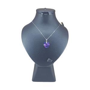 گردنبند نقره زنانه سواروسکی مدل قلب کد 7