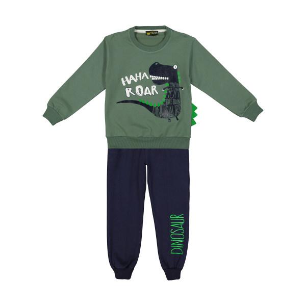 ست تی شرت و شلوار پسرانه خرس کوچولو مدل 2011162-45