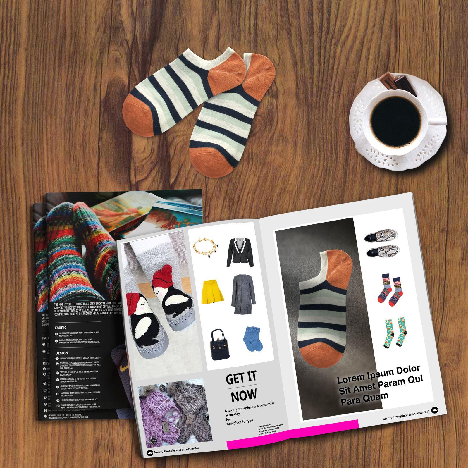 جوراب زنانه دیزر طرح راه راه کد fiory13 -  - 4