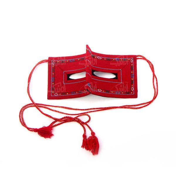 برقع سوزن دوزی زنانه قرمز سنتی آرانیک مدل 1209500003