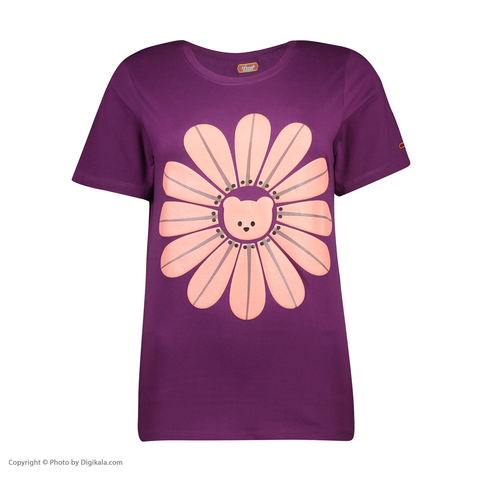 ست تی شرت و شلوارک راحتی زنانه مادر مدل 2041101-67 -  - 4