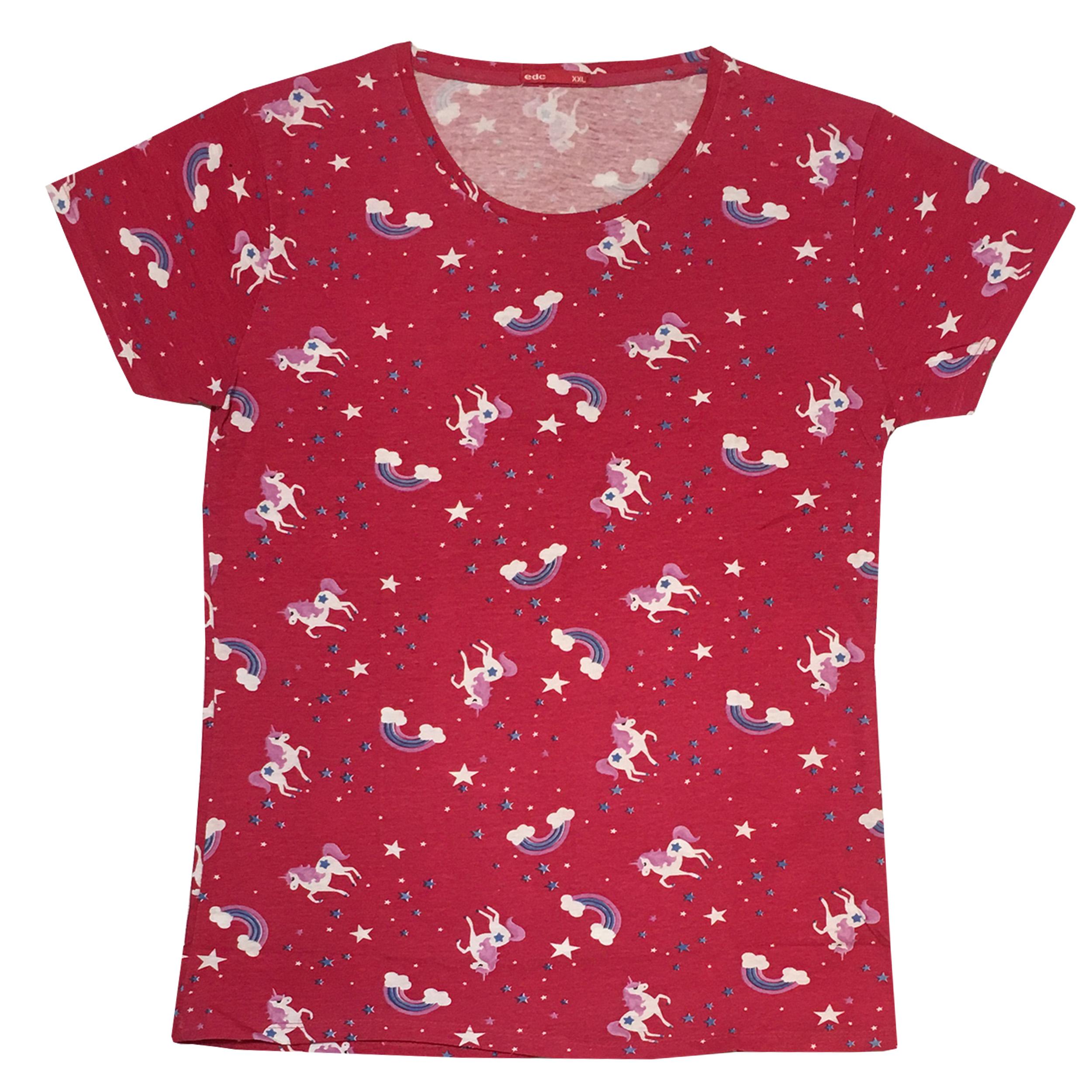 تی شرت زنانه مدل uni_50110