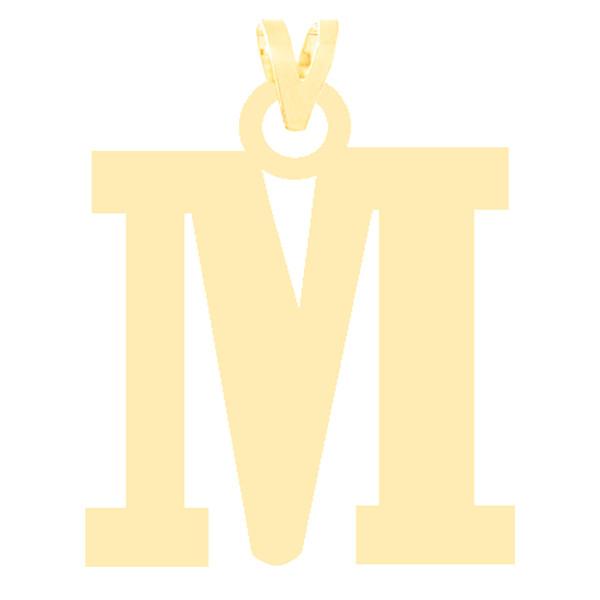 آویز گردنبند طلا 18 عیار زنانه کرابو طرح حرف M مدل Kr3631