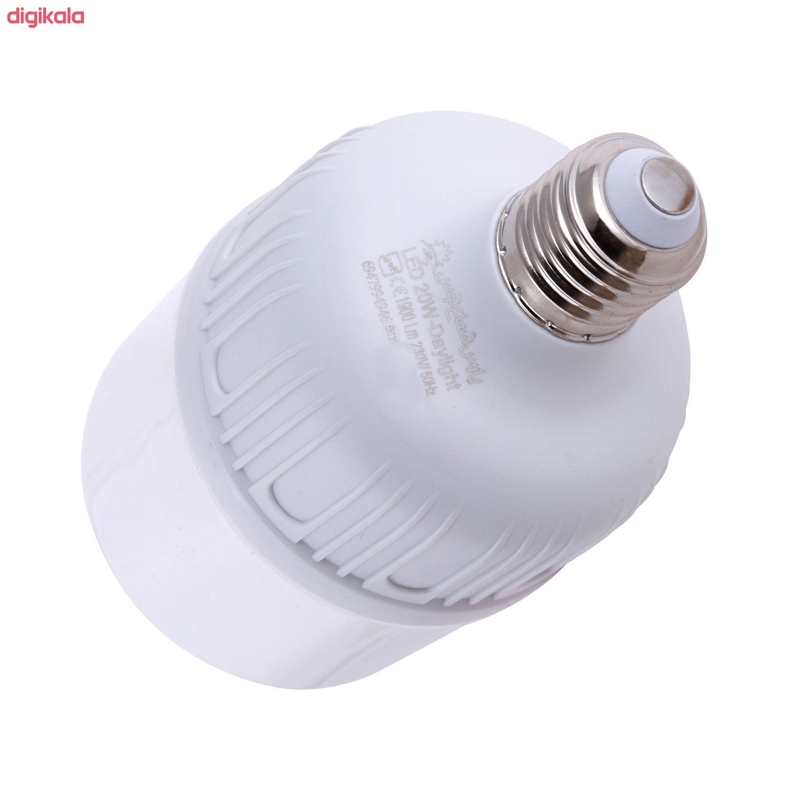 لامپ ال ای دی 20 وات پارس شعاع توس مدل CY20 پایه E27 main 1 1