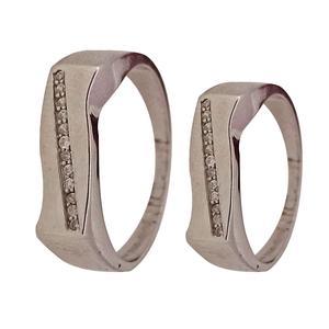 ست انگشتر نقره زنانه و مردانه سلین کالا مدل ce-setan2