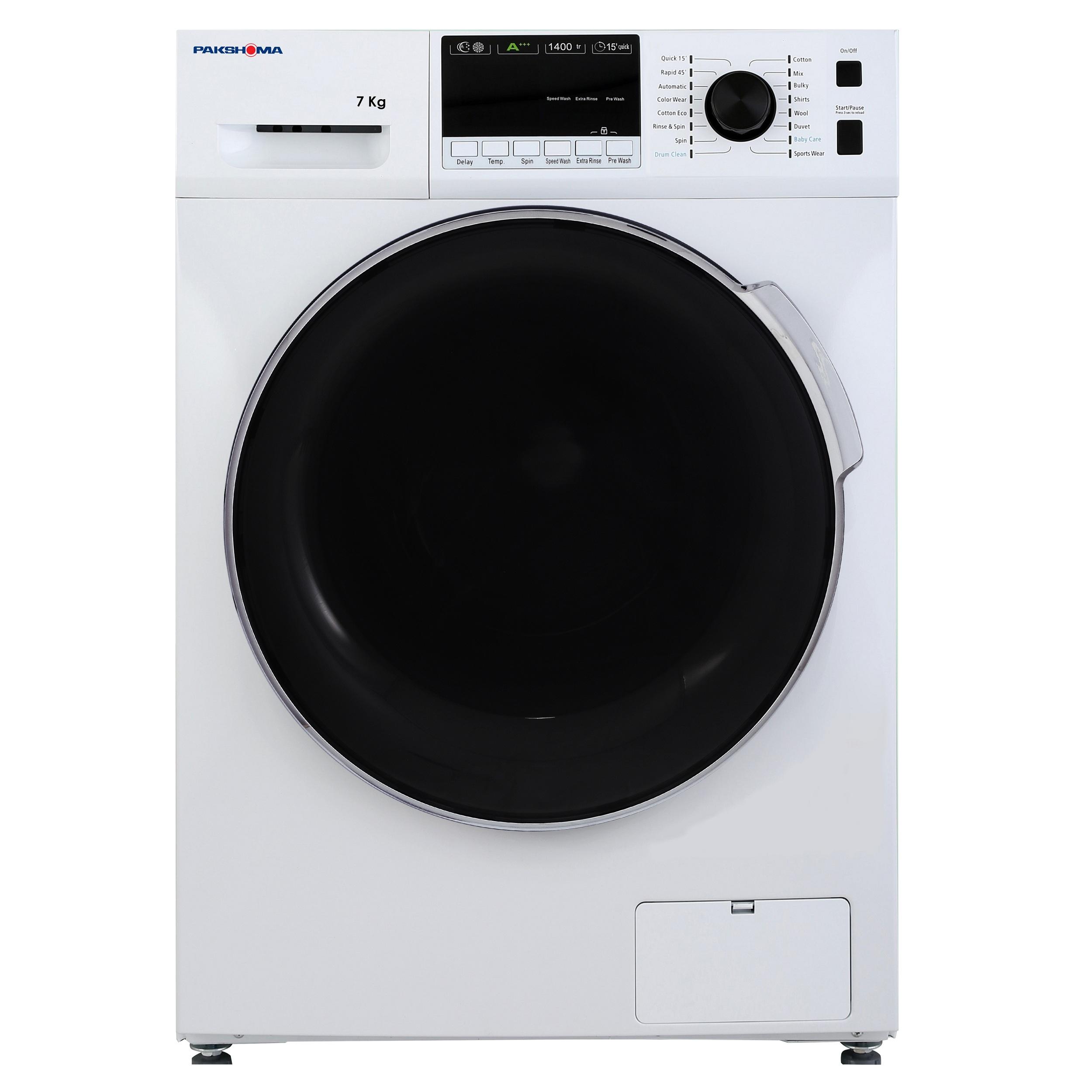 ماشین لباسشویی پاکشوما مدل TFU-74401 ظرفیت 7 کیلوگرم