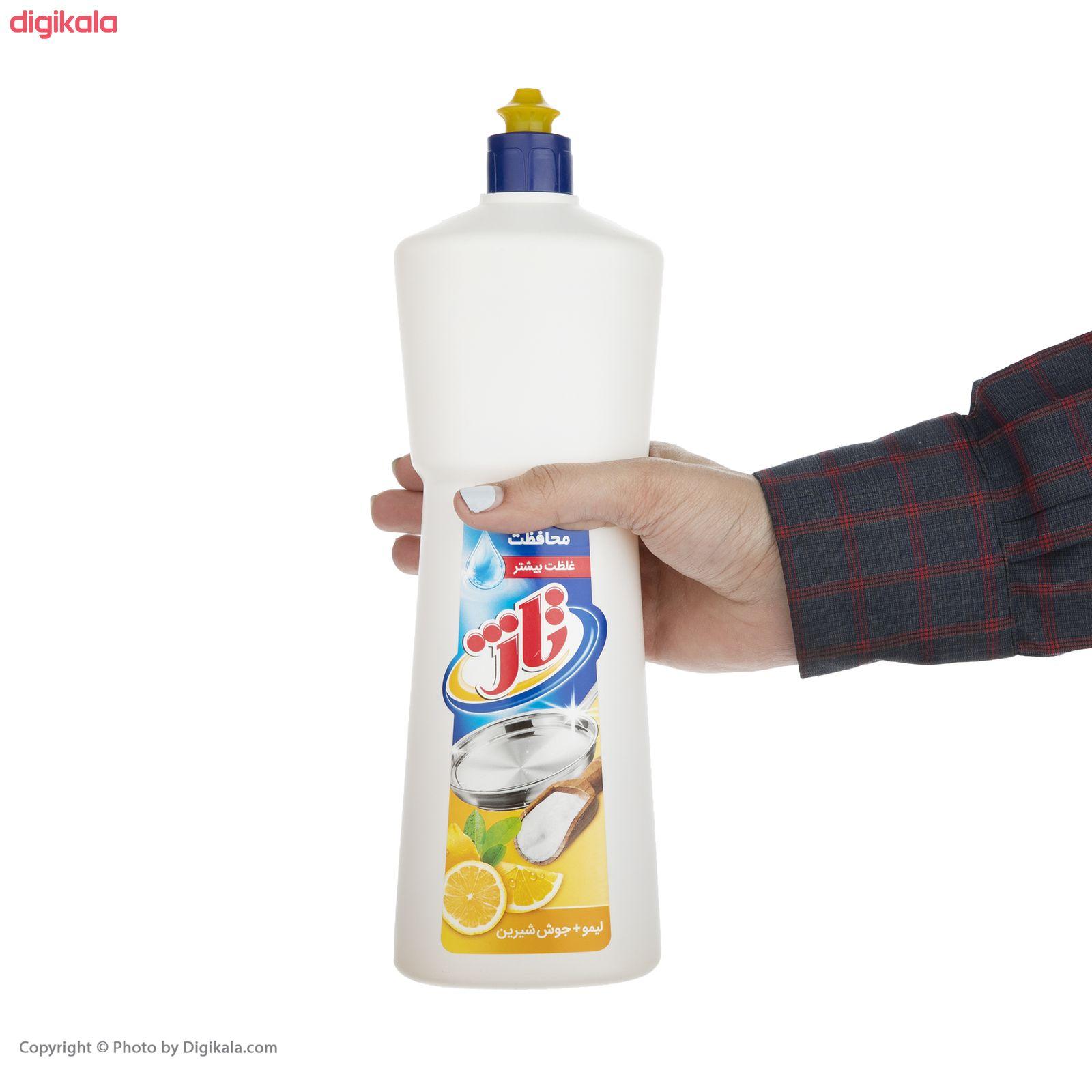 مایع ظرفشویی تاژ حاوی جوش شیرین با رایحه لیمو زرد مقدار 1 کیلوگرم main 1 3