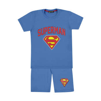 ست تی شرت و شلوارک پسرانه خرس کوچولو طرح سوپرمن کد 01